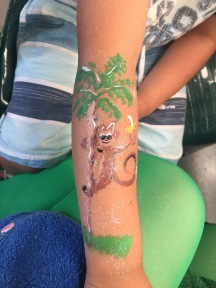 Monkey in a tree body art