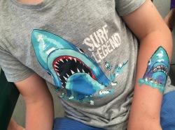 Shark body art